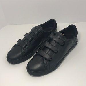 Clae Bradley Velcro, Black Leather; size 11